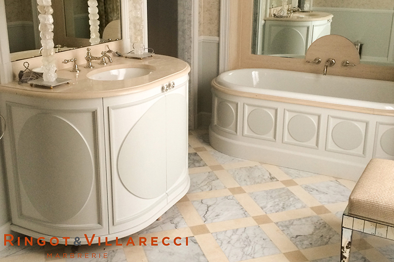 sol marbre blanc cheap salle de bain marbre moderne salles de bains en marbre le with sol. Black Bedroom Furniture Sets. Home Design Ideas